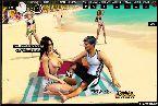 Hermosa playa con bikini caliente senoras que destella