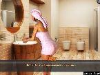 Spa bano caliente follar chica en una toalla