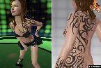 Chica salvaje en tatuajes conseguir realmente caliente
