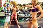 Chicas con curvas en bikini pidiendo algunos polla