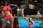 Fiesta de la piscina llena de chicas sexy en bikini apretado