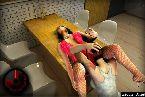 Lamiendo un cono ladys gemido sobre la mesa
