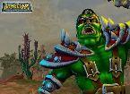 Soldado de monstruo verde lucha en un juego de follar cosmica