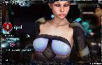 Caliente modelo 3d en espacio sci fi juego porno