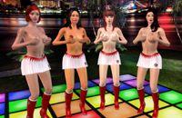Espectáculo de strip privado y sexy desnudo vuelta danza
